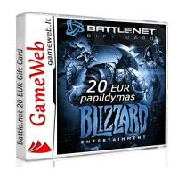 Blizzard battle.net 20 EUR papildymas