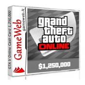 Grand Theft Auto Online - Cash Card - 1250000 USD