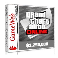Grand Theft Auto Online - Cash Card - 1250000 USD