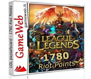 League of Legends papildymas - 1580 Riot Points