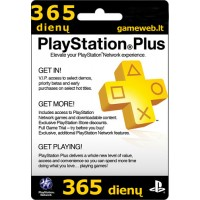 Play Station Plus (UK) - 365 dienų