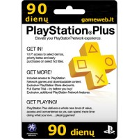 Play Station Plus (UK) - 90 dienų