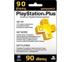 Play Station Plus (UK) - 90 dienų