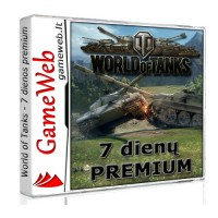 World of Tanks 500 Gold + 7 dienų premium