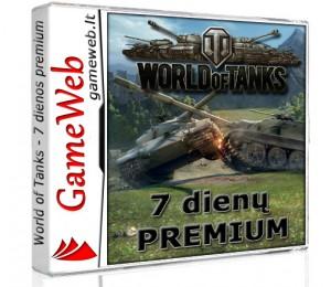 World of Tanks 500 Gold + 7 dienų premium