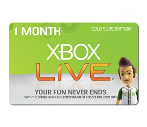 Xbox Live Gold 30 dienų