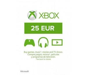 Xbox Live - 25 euro papildymas