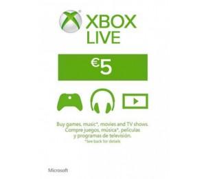 Xbox Live - 5 euro papildymas